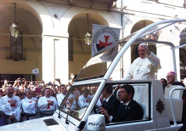 templari papa francesco sindone
