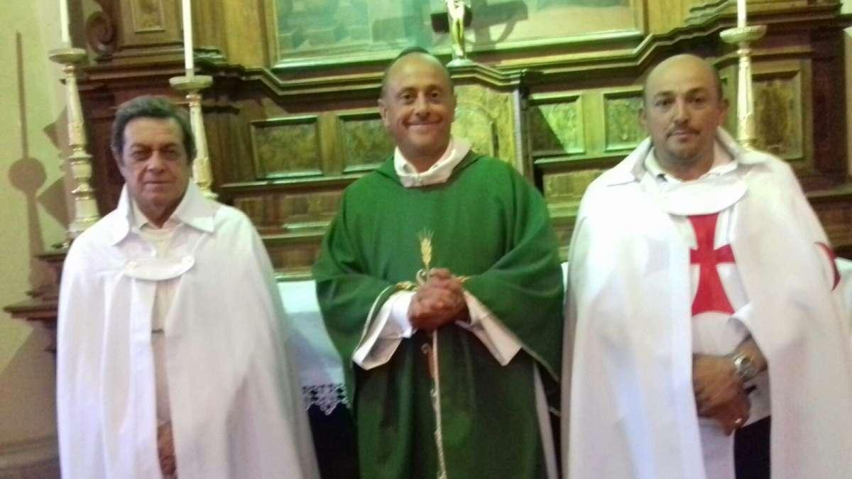 I Templari Cattolici d'Italia partecipano alla messa al Santuario di Madonna della Riva a Cuneo
