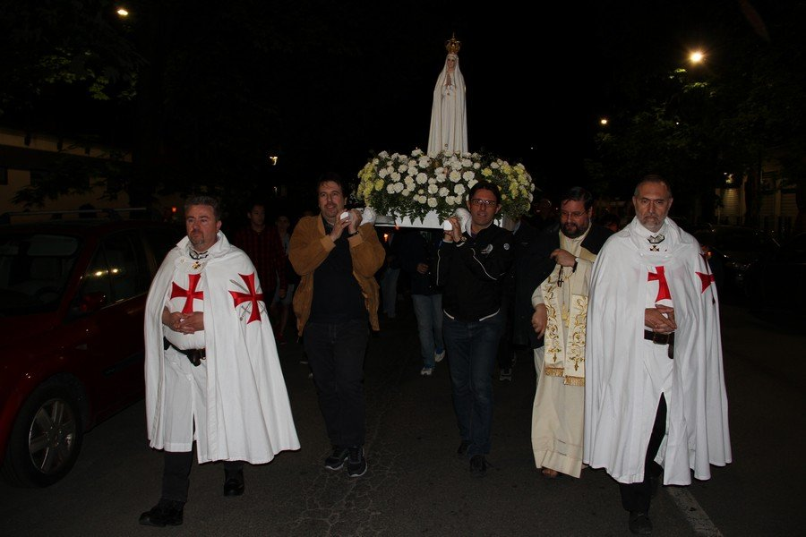 templari madonna pellegrina di fatima milano