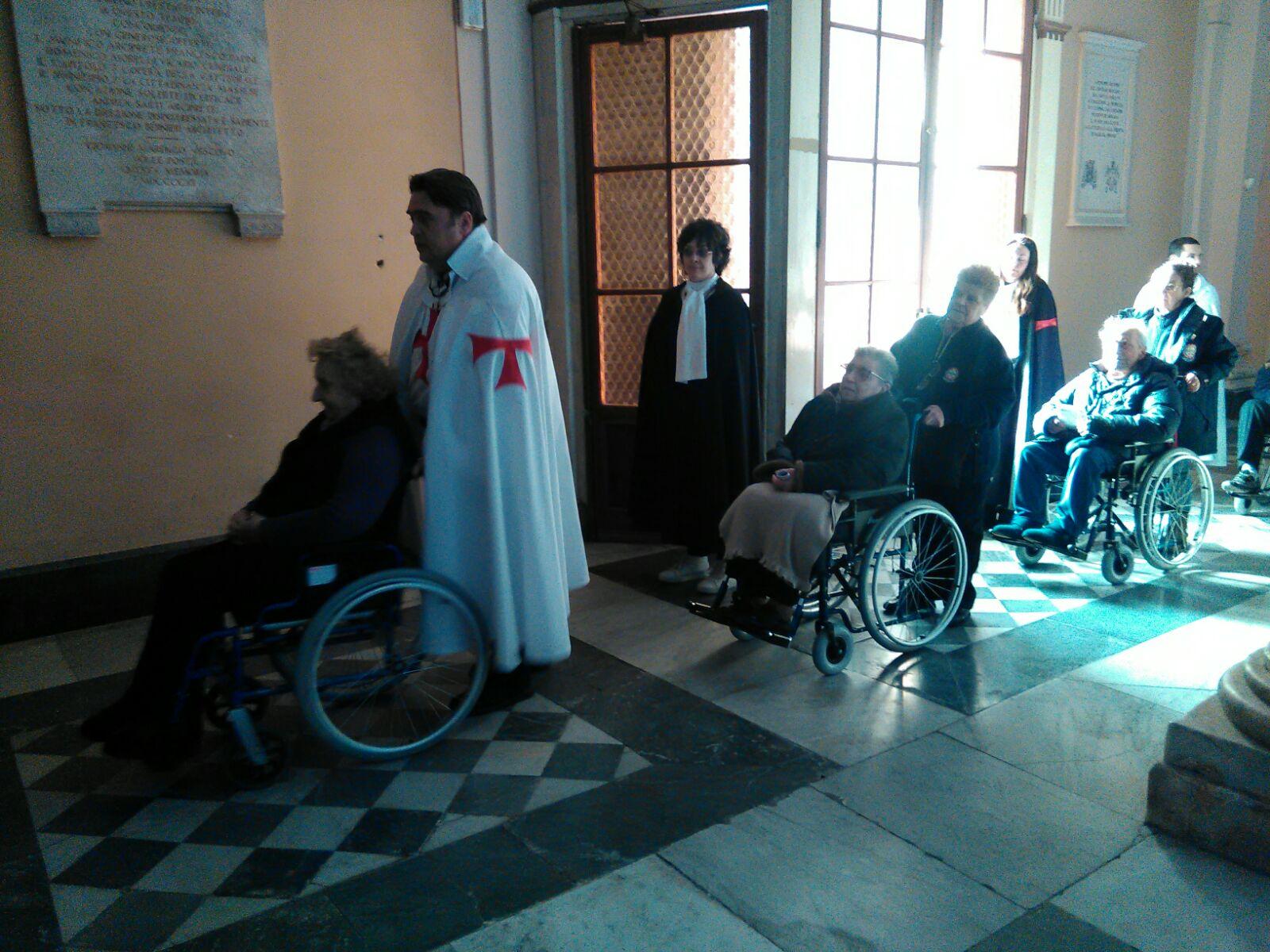 templari pellegrinaggio massa