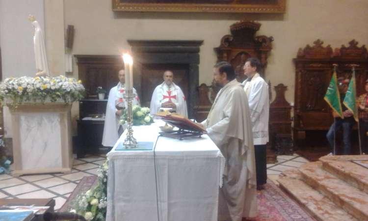 I Templari Cattolici d'Italia accompagnano la Madonna Pellegrina di Fatima a Brescia
