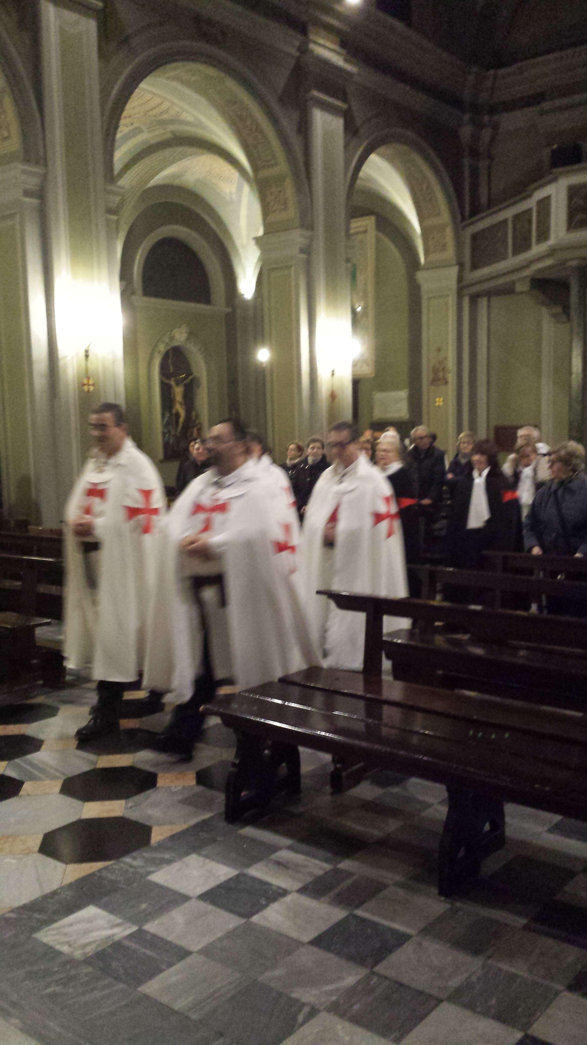 I Templari Cattolici d'Italia partecipano alla Santa Messa in occasione delle Ceneri
