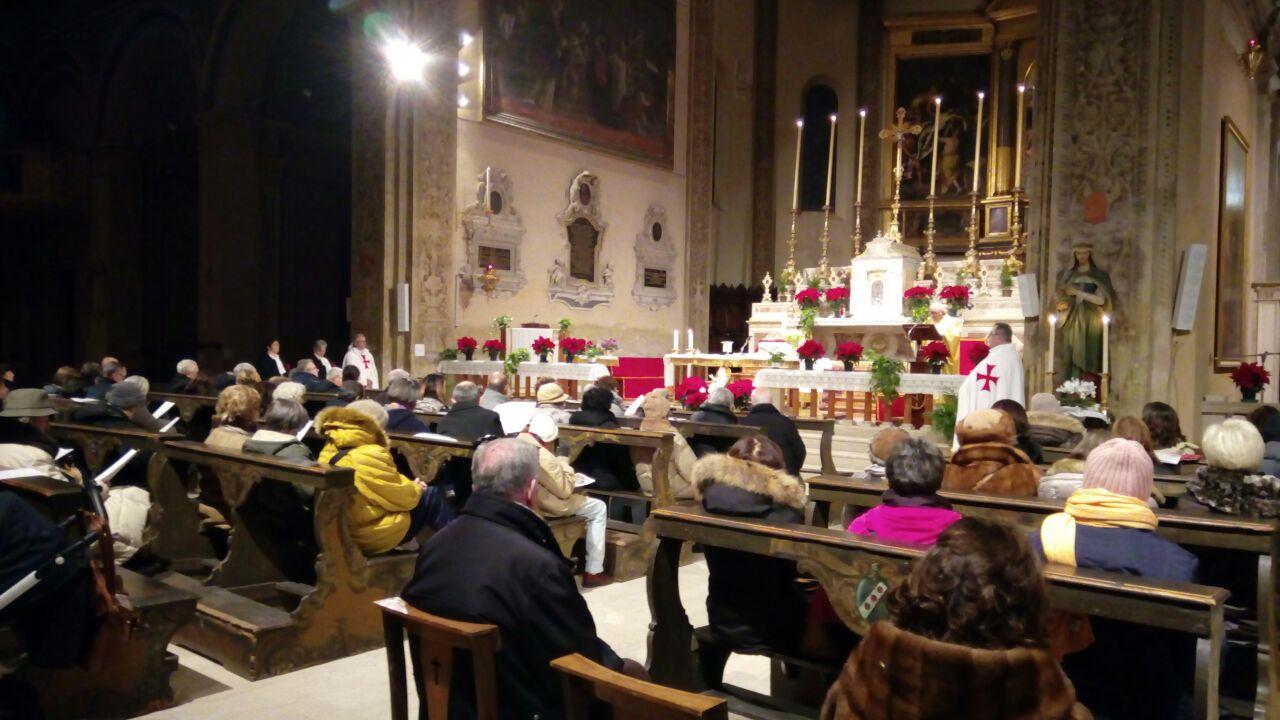 I Templari Cattolici d'Italia partecipano alla Santa Messa e assegnazione dei Santi Patroni per l'anno nuovo a Ferrara