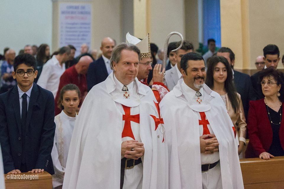 I Templari Cattolici d'Italia alla Celebrazione Eucaristica presieduta dall'Arcivescovo S.E.R. mons. Fabio dal Cin, Prelato Pontificio.