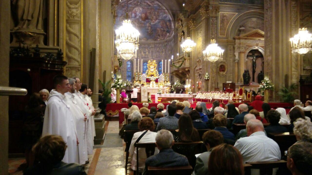 I Templari Cattolici d'Italia partecipano alla Celebrazione Eucaristica presieduta dall'Arcivescovo Sua Eccellenza Monsignor Giancarlo Perego.
