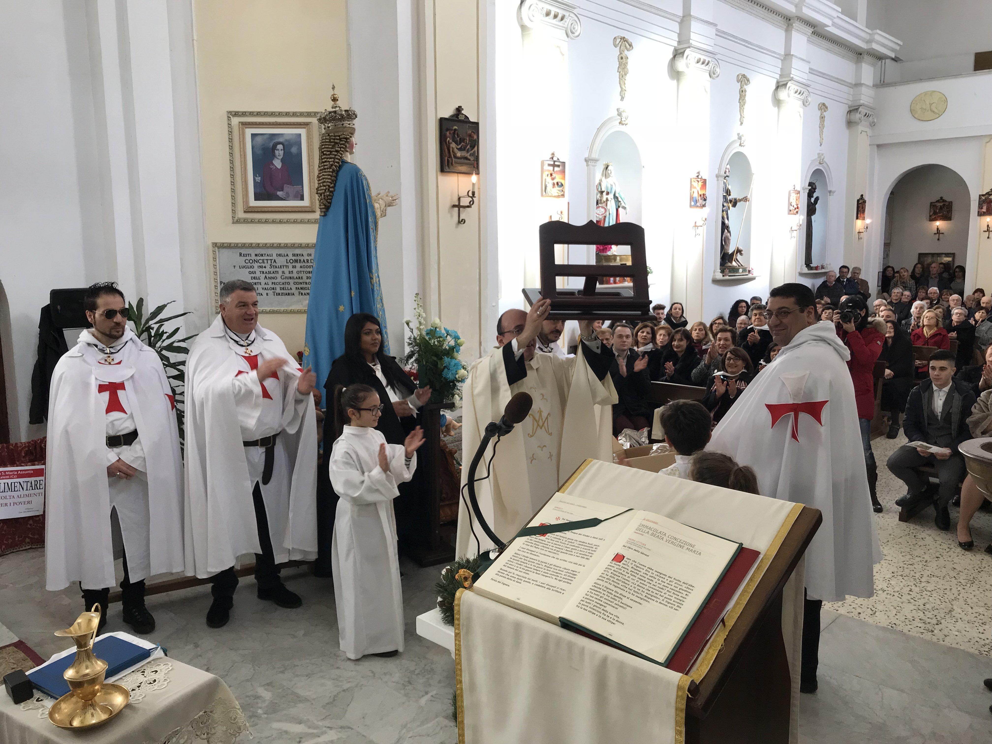 I Templari Cattolici d'Italia partecipano alla processione e Santa Messa in occasione della solennità dell'Immacolata.