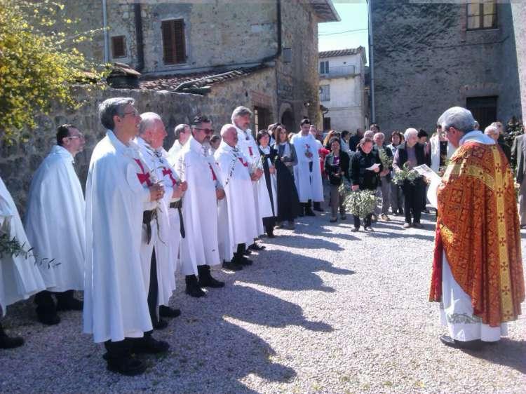 I Templari Cattolici d'Italia partecipano alla Processione,  Benedizione dell'Ulivo e Santa Messa delle palme a Castel San Gimignano