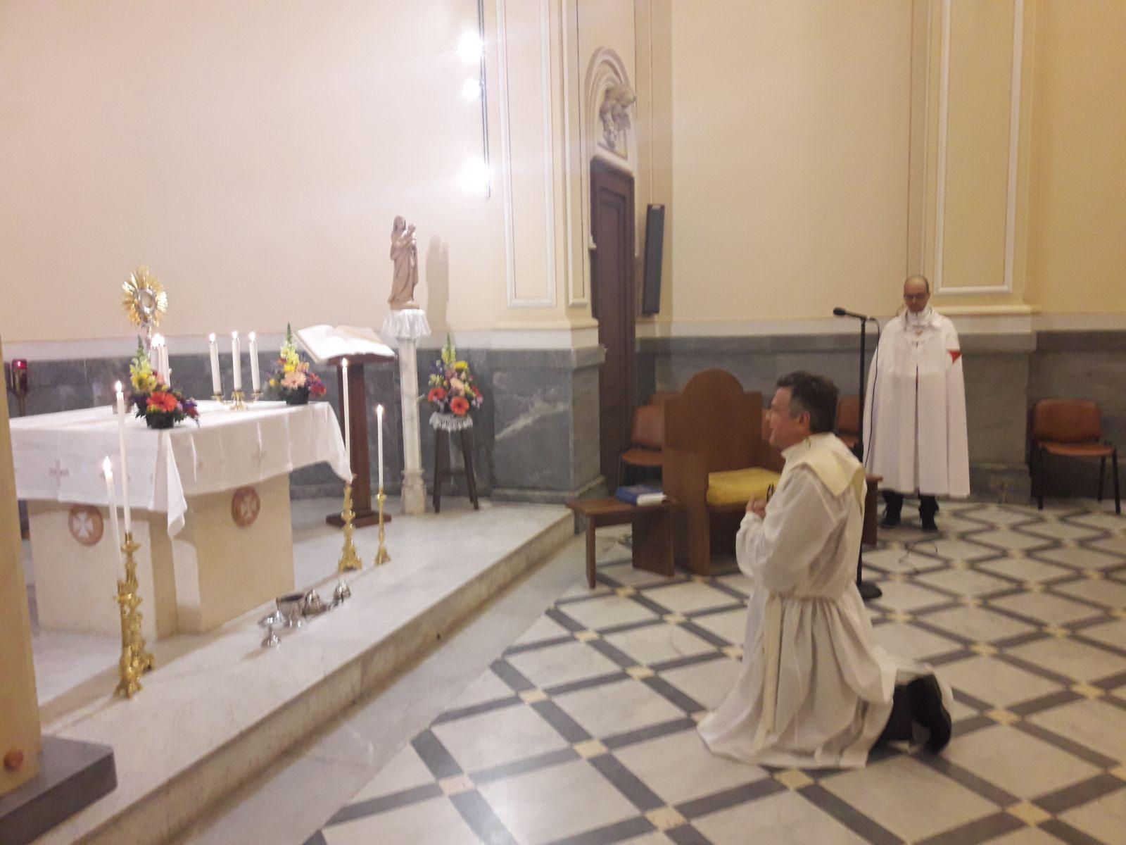 I Templari Cattolici d'Italia partecipano alle 24h di preghiera indetta dal Sommo Pontefice a Messina.