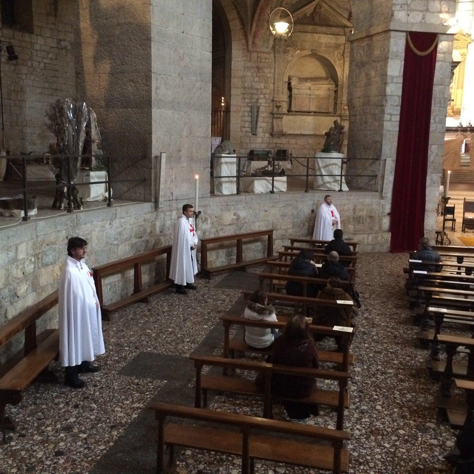 Templari Cattolici d'Italia partecipano alla Santa Messa per il Battesimo di Gesù