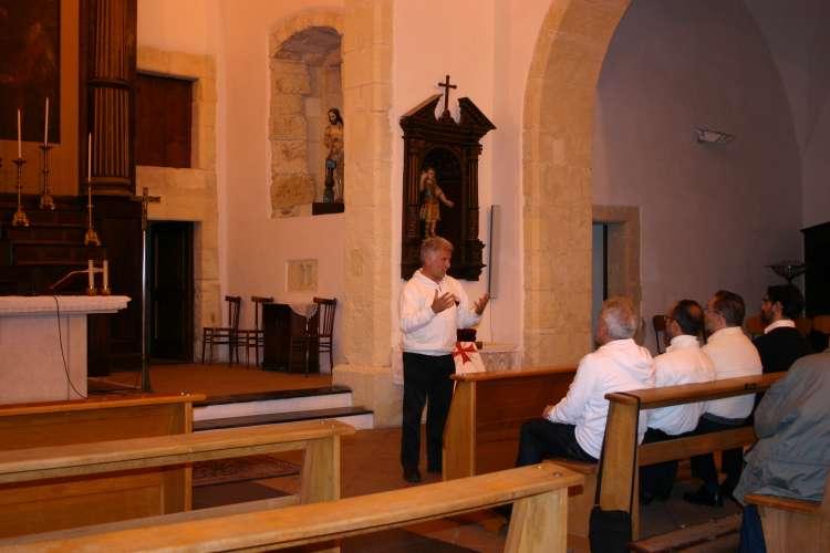 I Templari Cattolici d'Italia partecipano alla Celebrazione Eucaristica e Conferenza presso Quart Sant'Elena a Catania.