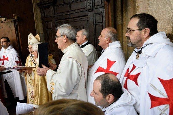Templari Cattolici d'Italia a Chiaravalle vescovo Gianni Ambrosio
