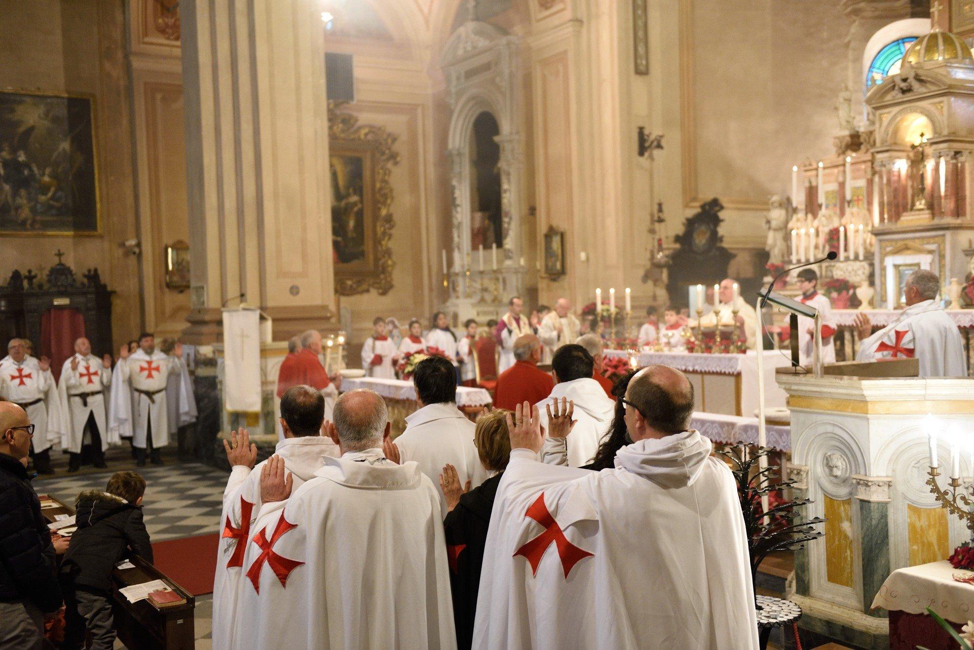 I Templari Cattolici d'Italia partecipano alla Santa Messa a Soragna.
