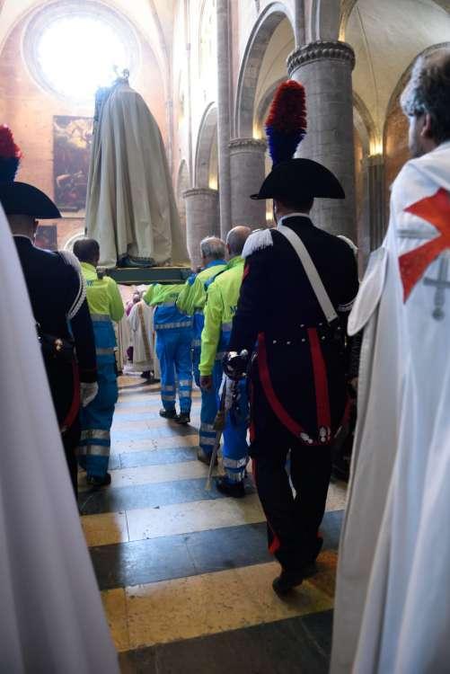 I Templari Cattolici partecipano alle celebrazioni per la festa della Madonna del Popolo a Piacenza.