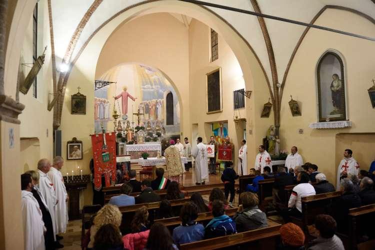 I Templari Cattolici d'Italia partecipano alla Santa Messa Solenne presieduta da Sua Eccellenza Monsignor Ovidio Vezzoli, Vescovo di Fidenza, in occasione della solennità di San Martino, patrono di Alseno.