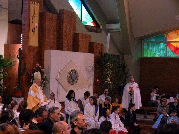 Templari Torino con s.e. Mons. Nosiglia