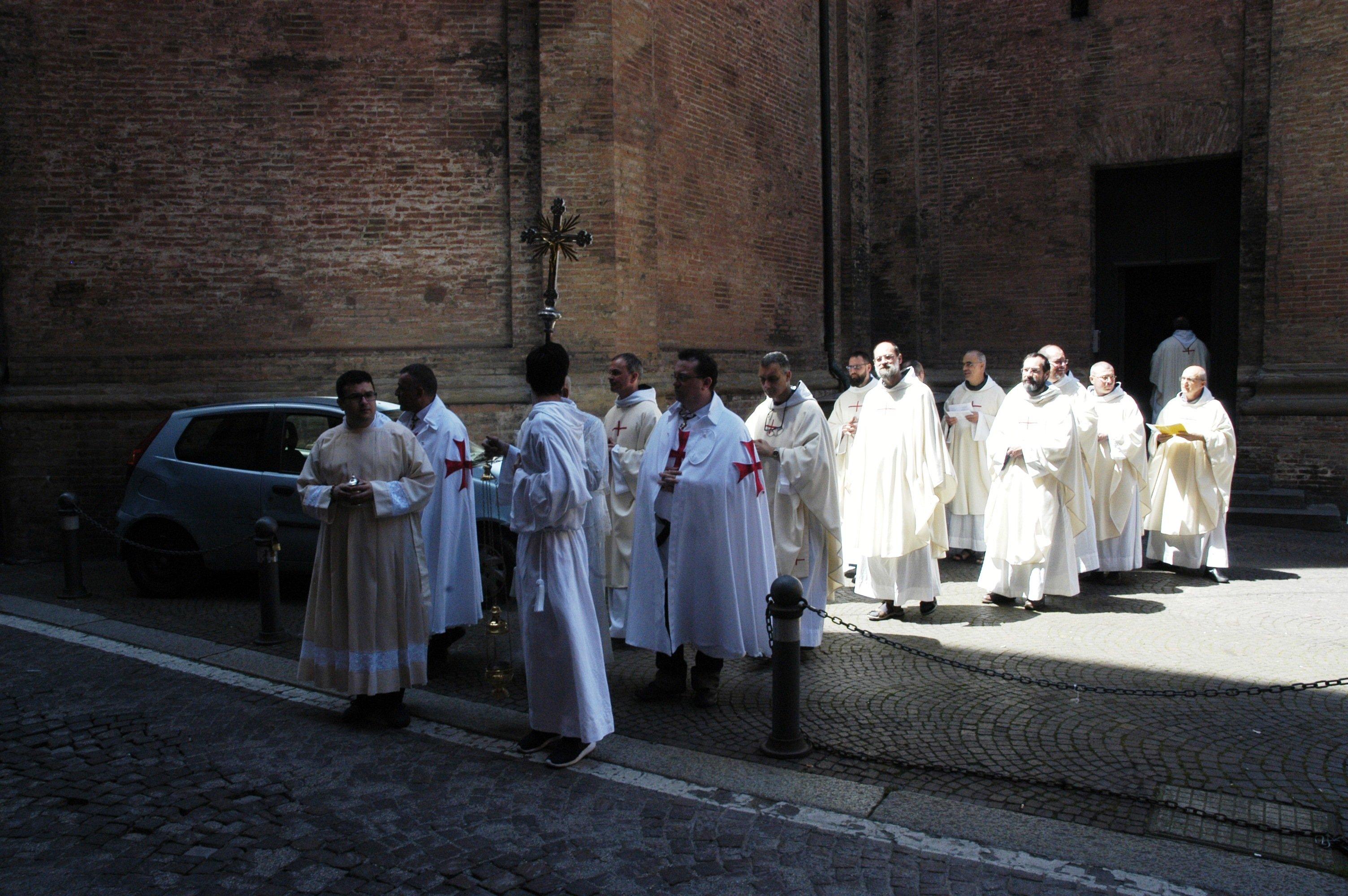 I Templari Cattolici d'Italia partecipano alle celebrazioni in occasione della ricorrenza della Madonna della Vita a Bologna.