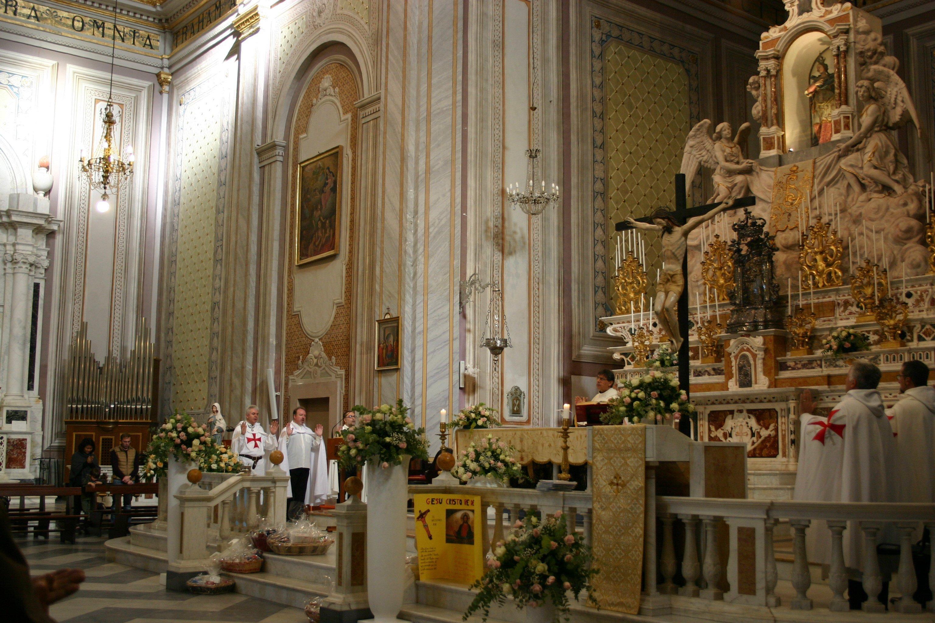 I Templari Cattolici d'Italia partecipano alla Celebrazione Eucaristica e Conferenza presso Quartu Sant'Elena a Cagliari.