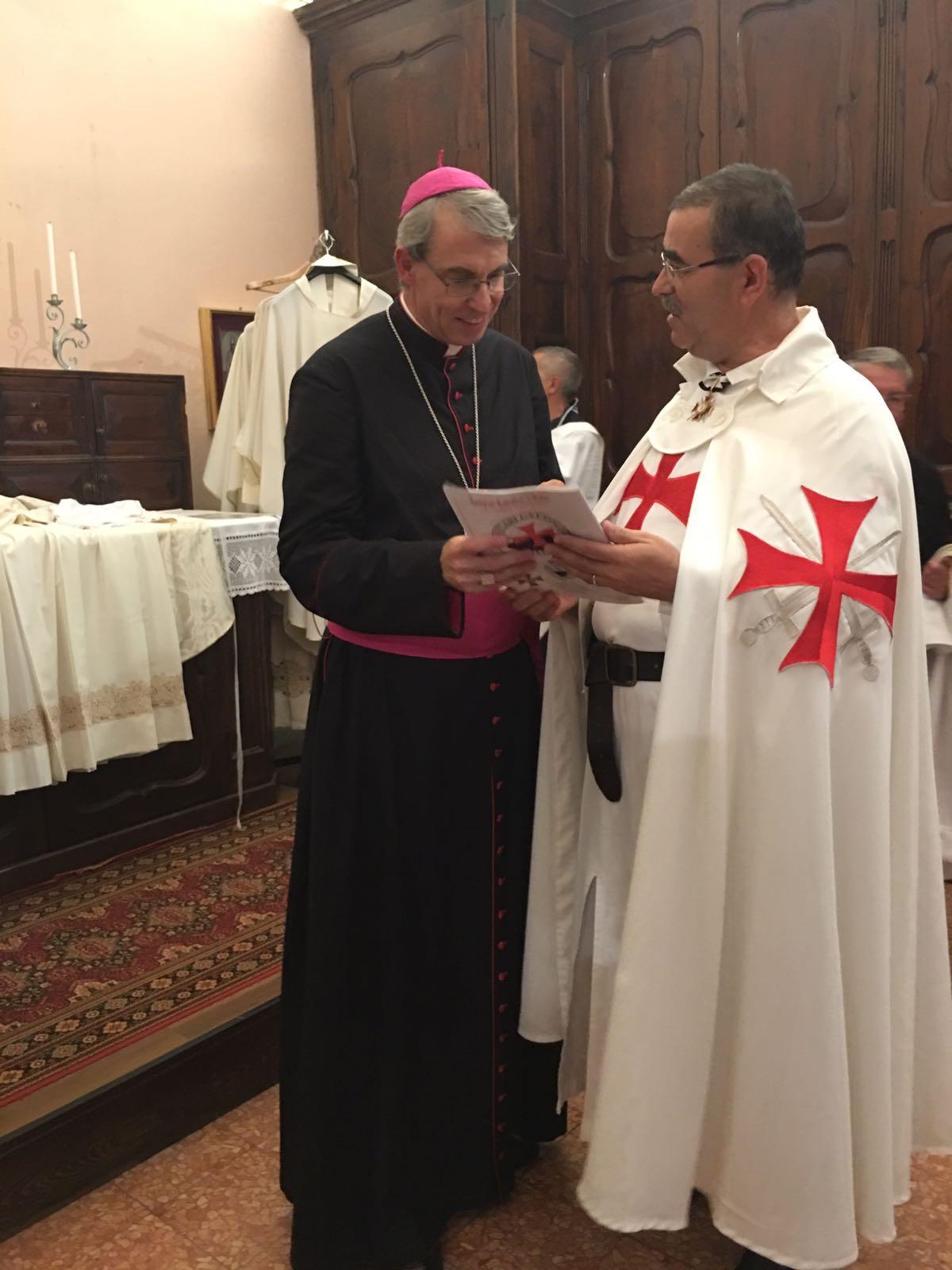 Templari Cattolici d'Italia Madonna di Fatima Vescovo Sanguineti