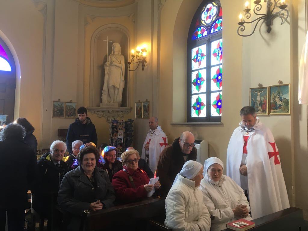 I Templari Cattolici d'Italia partecipano alla Santa Messa a Biella.
