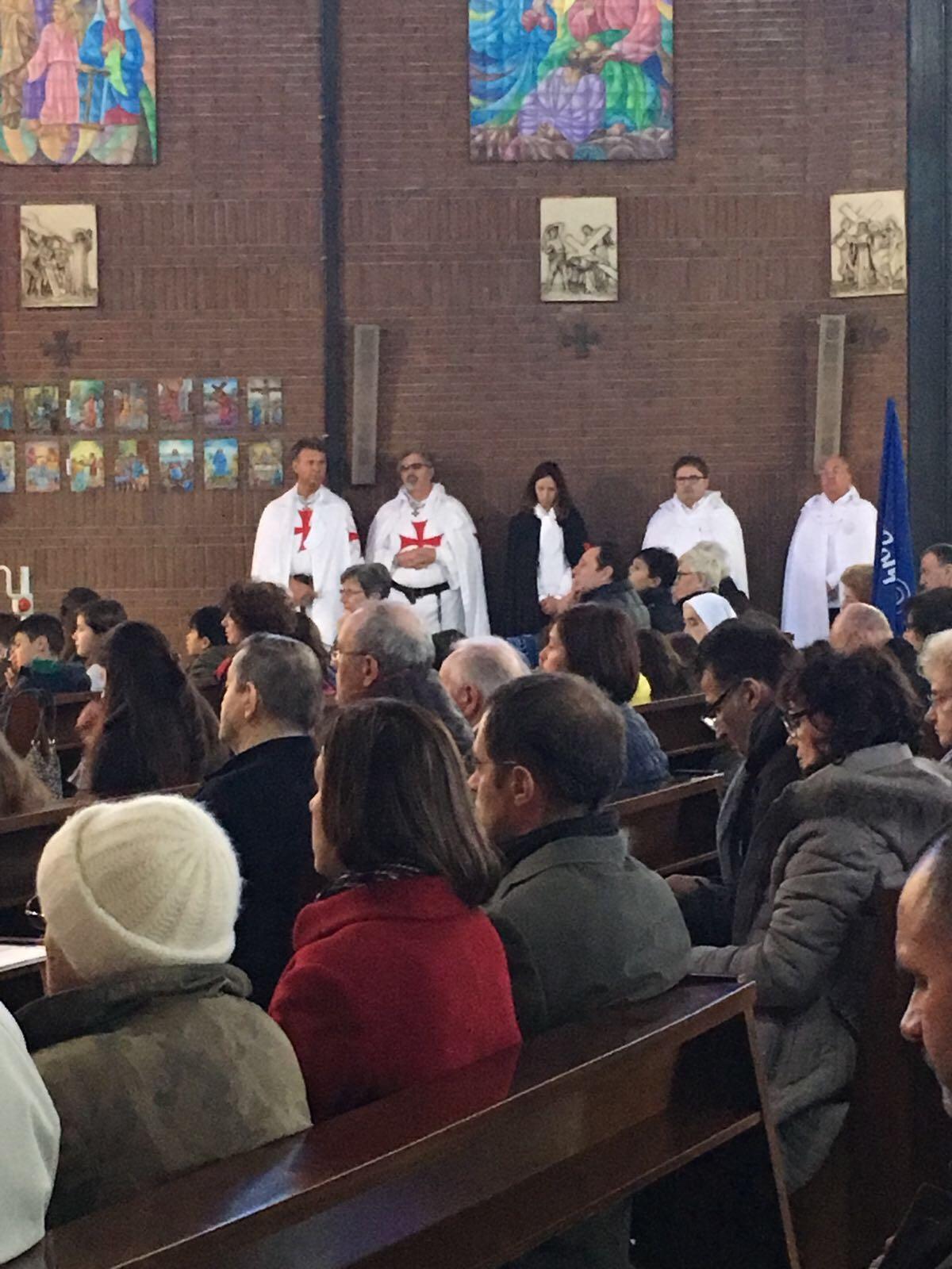 I Templari Cattolici d'Italia partecipano alla Santa Messa a Mantova.