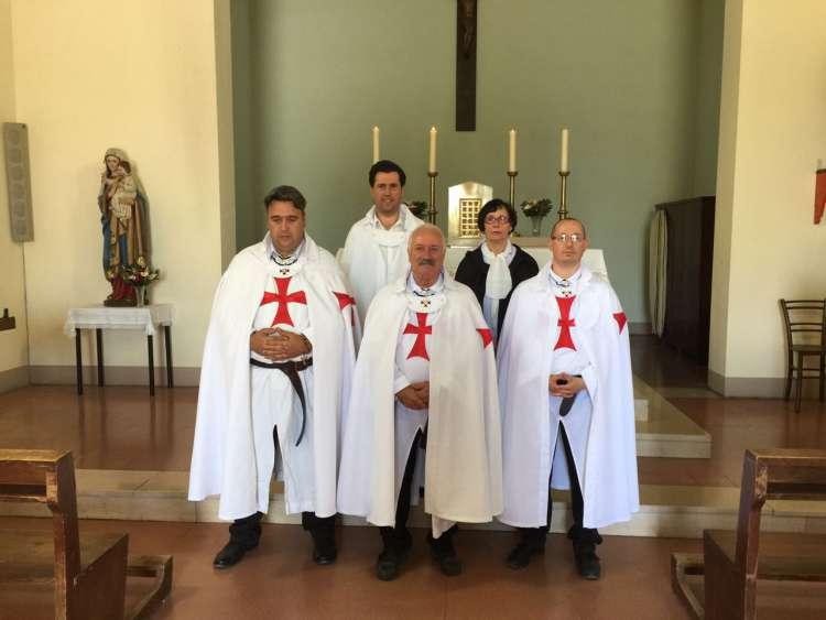 I Templari Cattolici d'Italia custodiscono la chiesa di Santo Stefano e San Giuseppe Lavoratore a San Minato