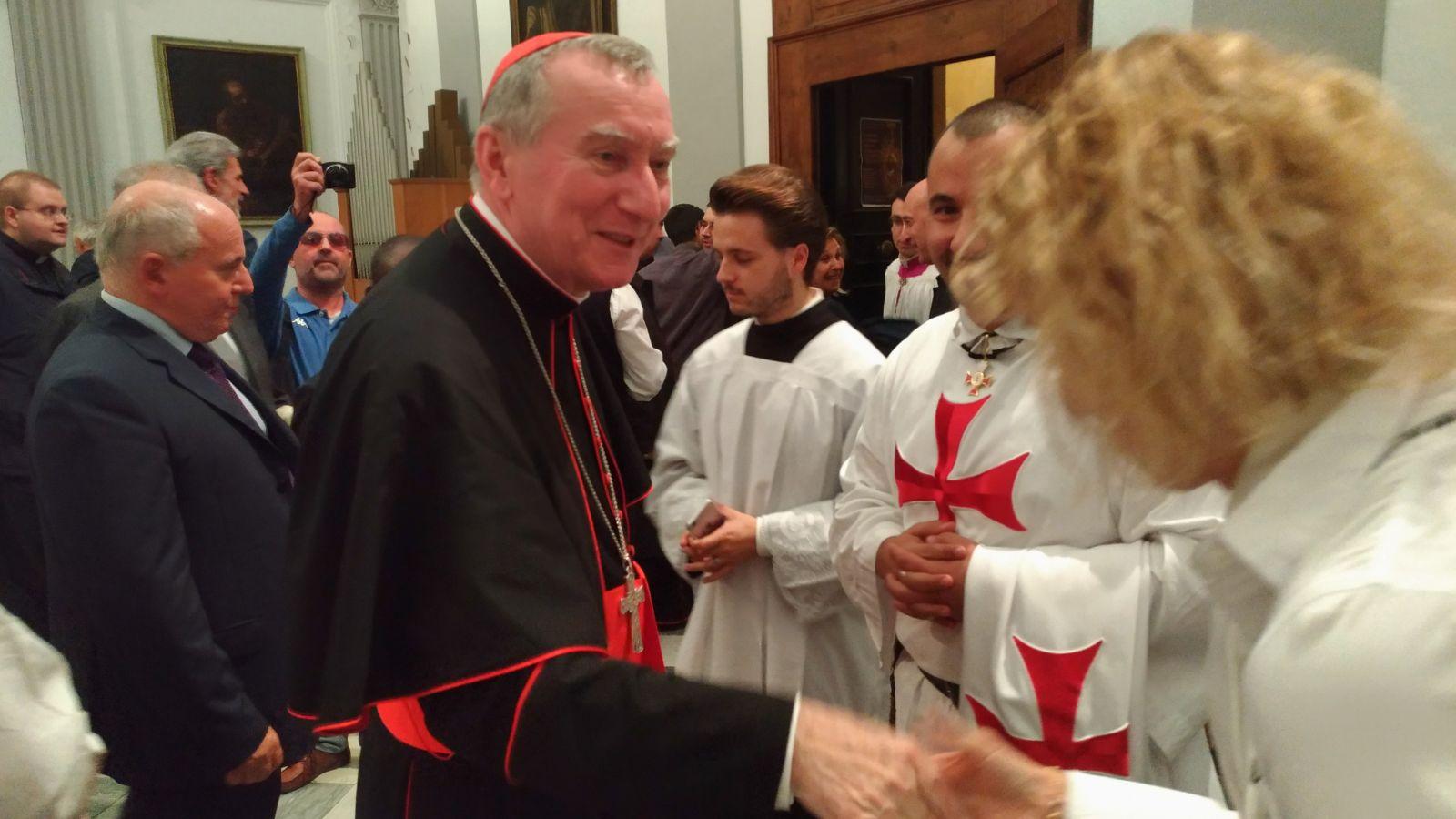 I Templari Cattolici d'Italia in occasione della festività di San Francesco d'Assisi partecipano alla Celebrazione Eucaristica Presieduta da Sua Eminenza il Cardinale Parolin Segretario dello Stato del Vaticano a Massa Carrara