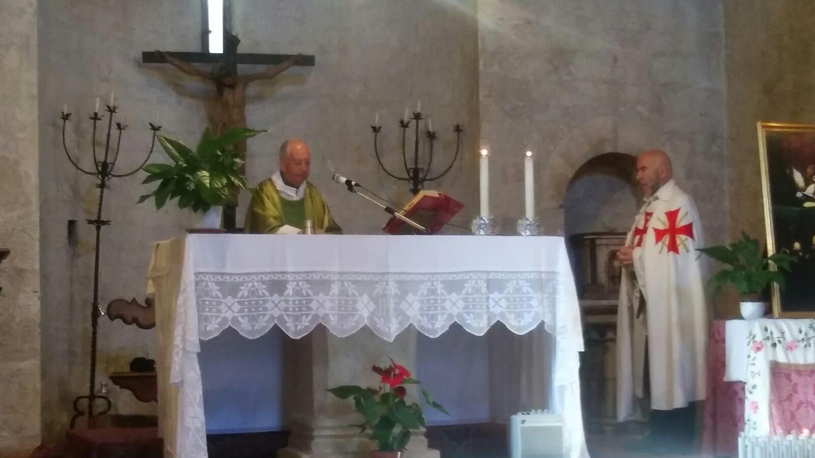 I Templari Cattolici d'Italia partecipano alla Celebrazione Eucaristica in occasione della riapertura annuale della chiesa Templare di Sant'Ilario e Carlo.