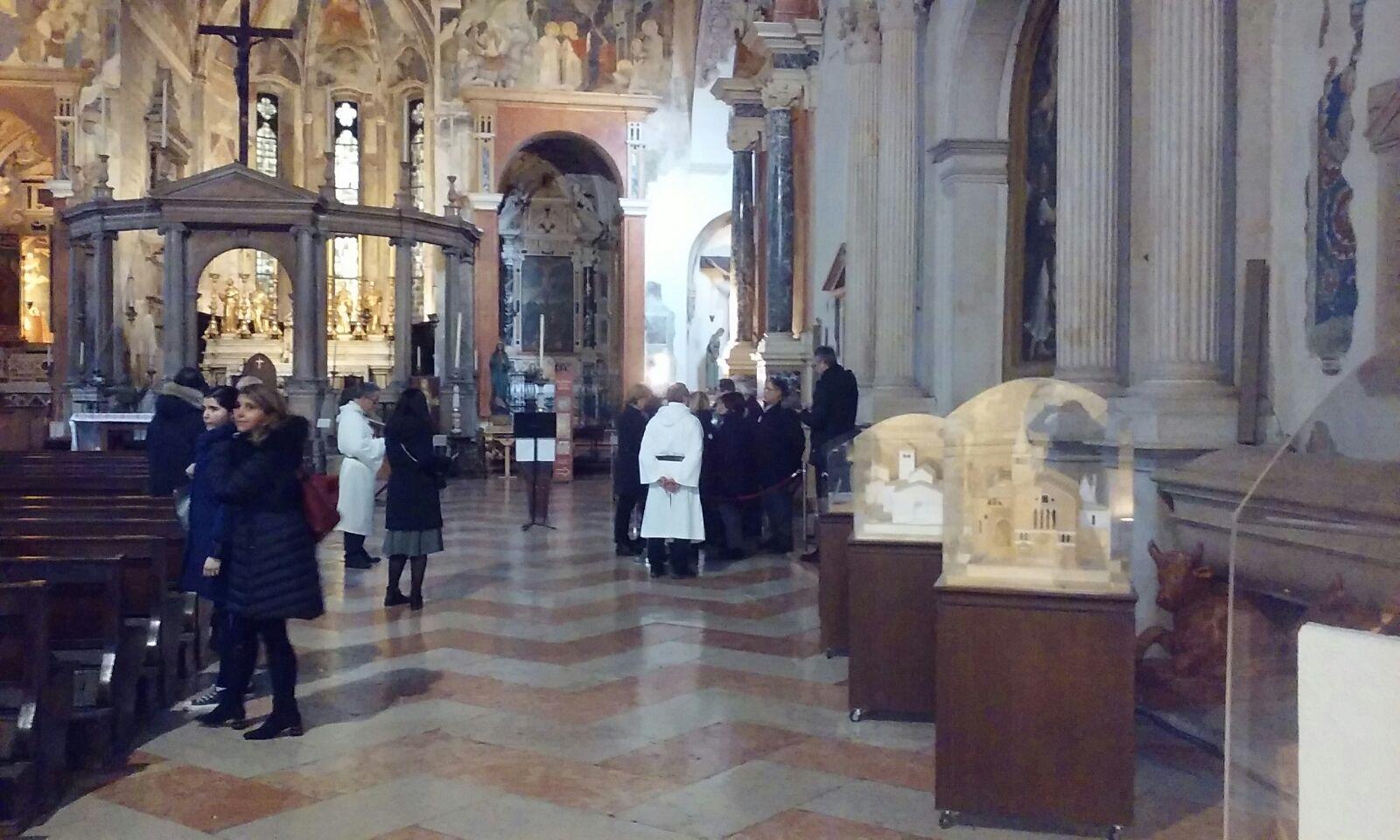 Templari Cattolici d'Italia a Verona per apertura straordinaria soffitto del trecento in San Fermo