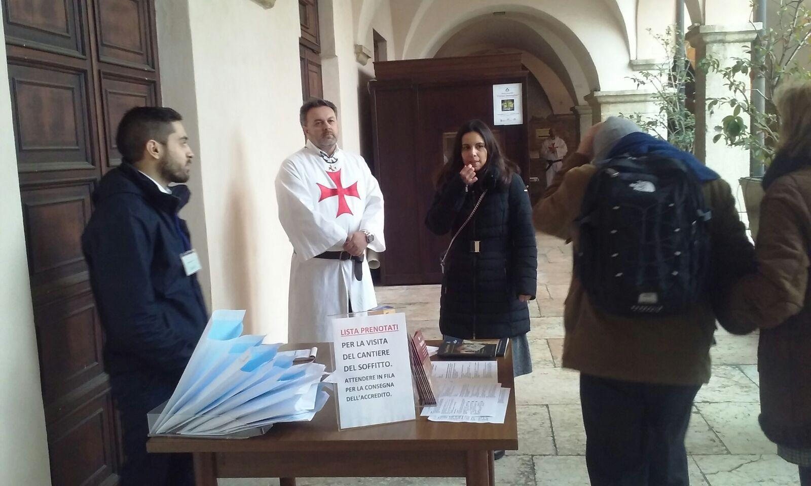 Templari Cattolici d'Italia partecipano mostra in San Fermo a Verona