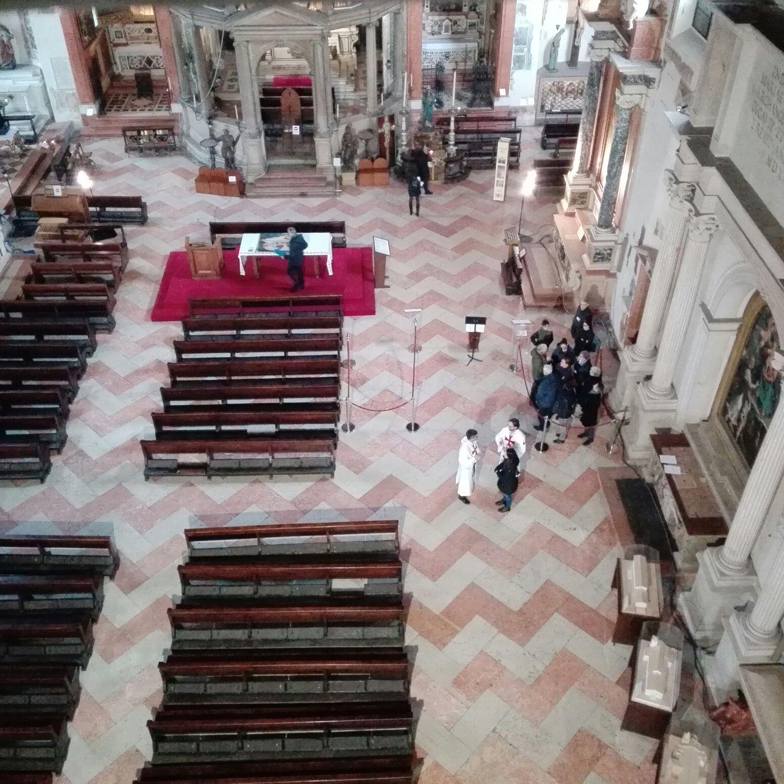 Templari Cattolici d'Italia soffitto ligneo di San Fermo a Verona