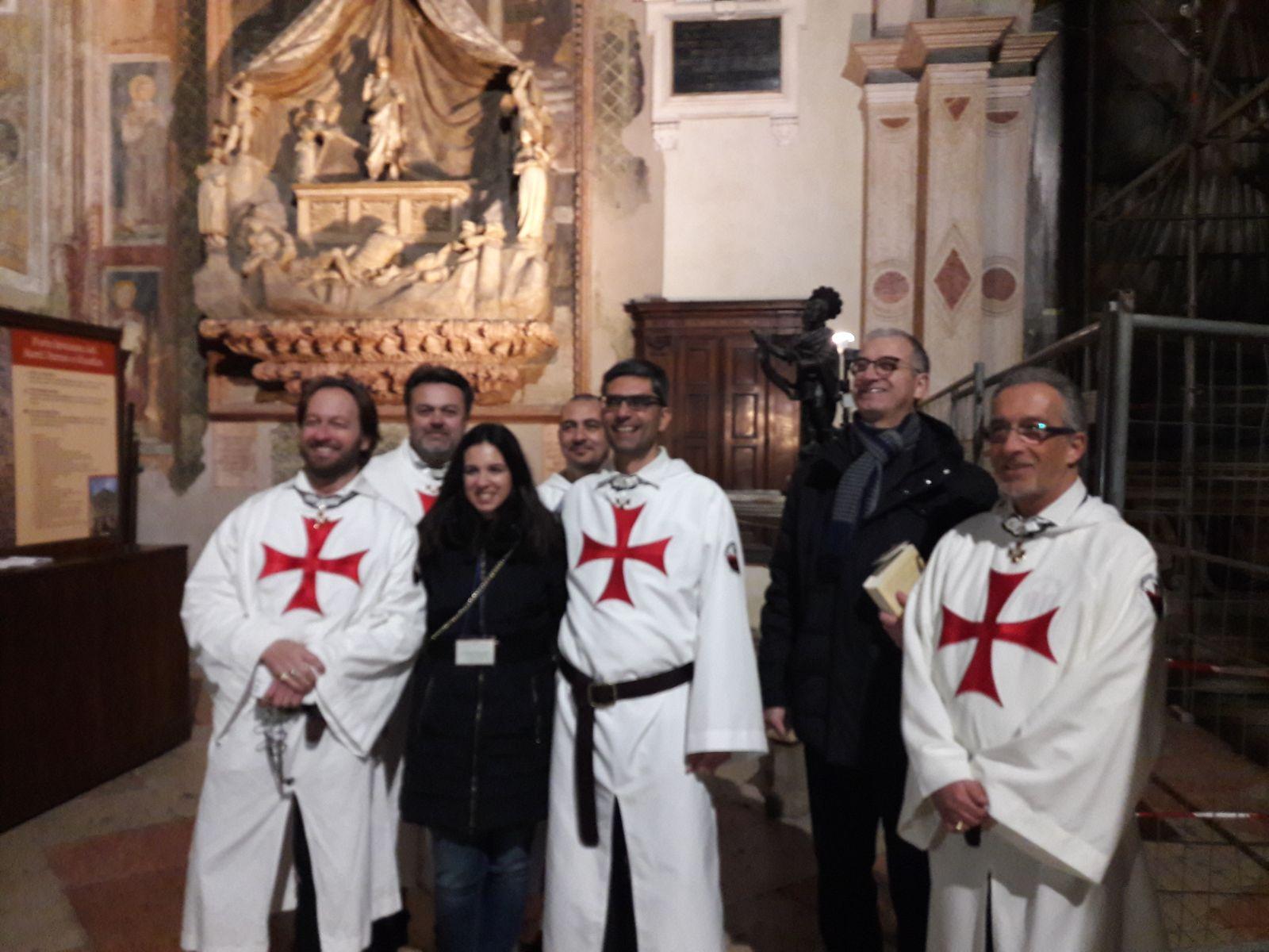 Templari Cattolici d'Italia con Erika Prandi Storica dell'arte San Fermo a Verona