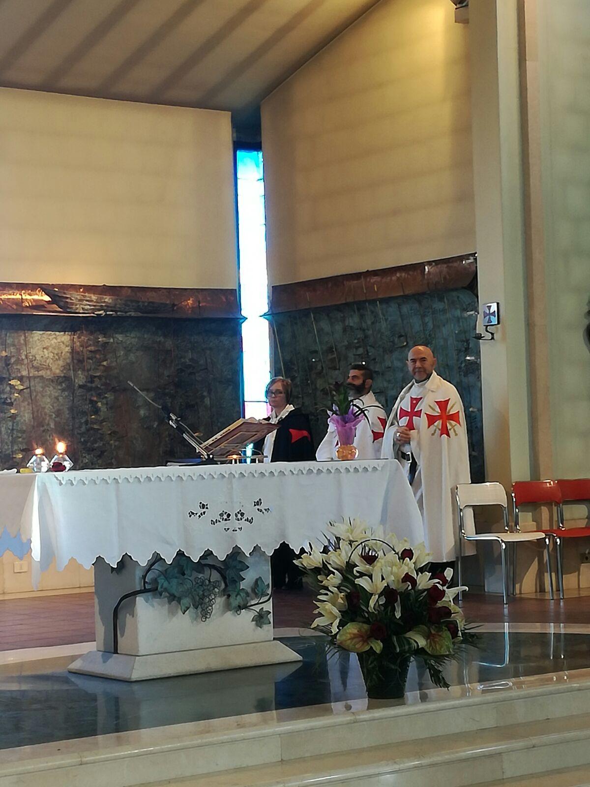 I Templari Cattolici d'Italia partecipano alla Santa messa presso la chiesa di Santo Stefano a Niviano. A seguire presentazione della mostra