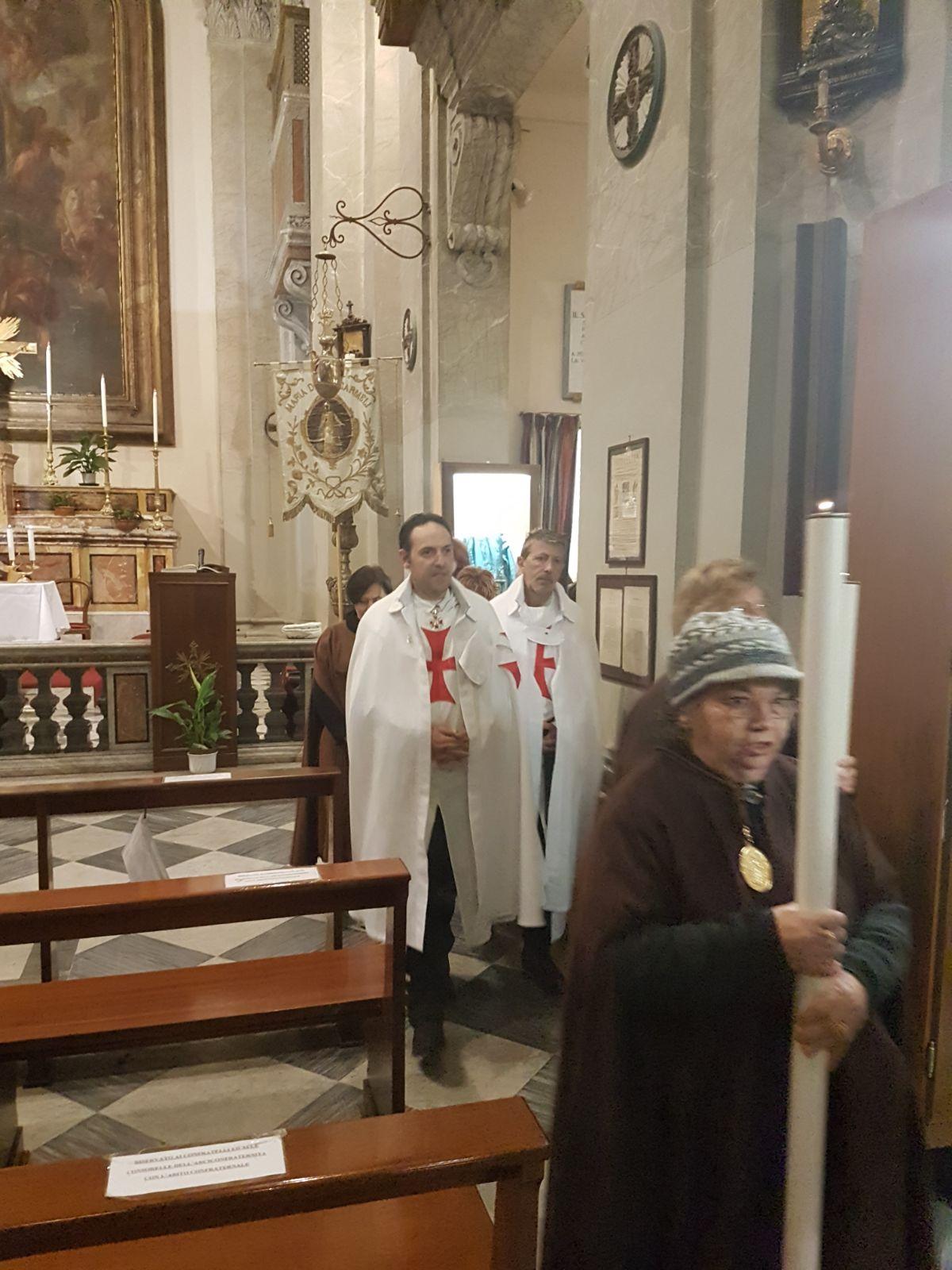 anno 2018- Sant'Agata in Trastevere con i Templari Cattolici foto5
