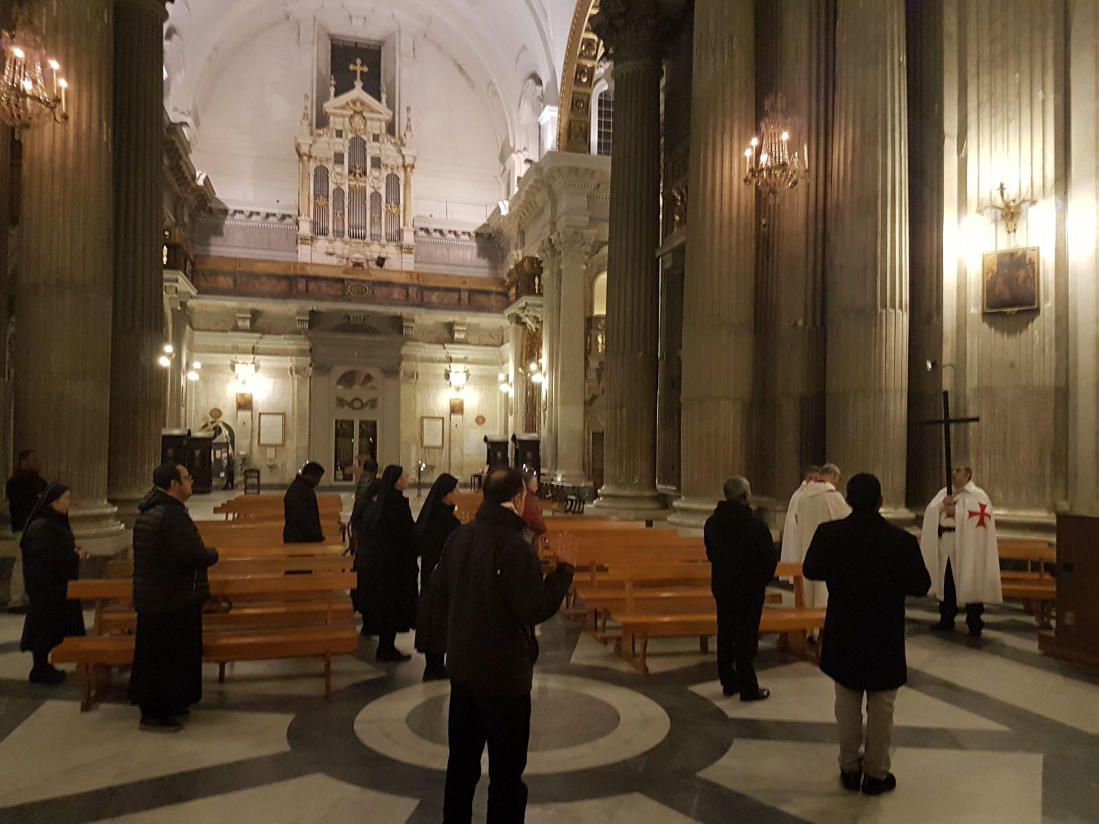 16feb2018 - Basilica di Santa Maria in Portico in Campitelli - Via Crucis - Templari Cattolici - foto 5