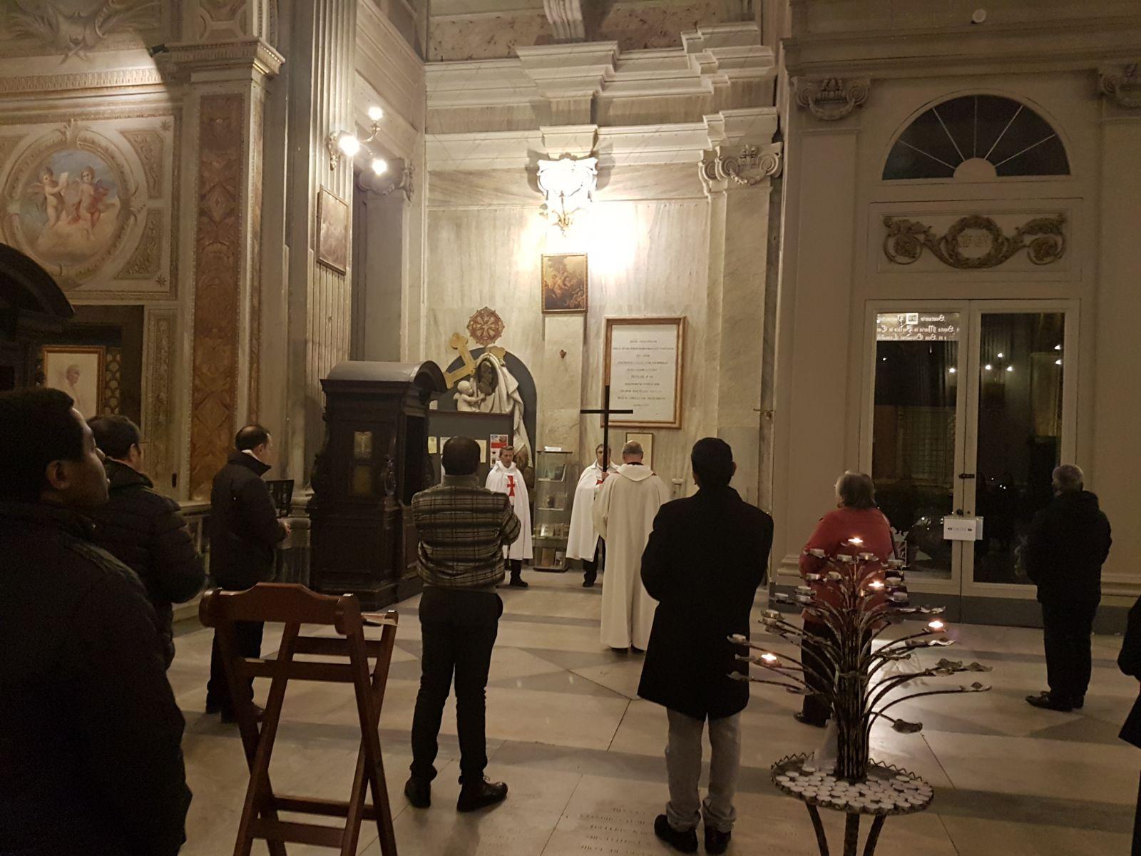 16feb2018 - Basilica di Santa Maria in Portico in Campitelli - Via Crucis - Templari Cattolici - foto 4
