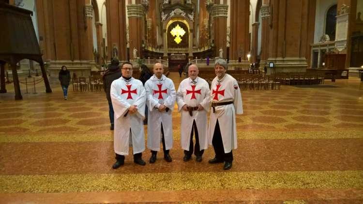 Bologna-Basilica di San Petronio 10-11 marzo 2018 Templari foto 1