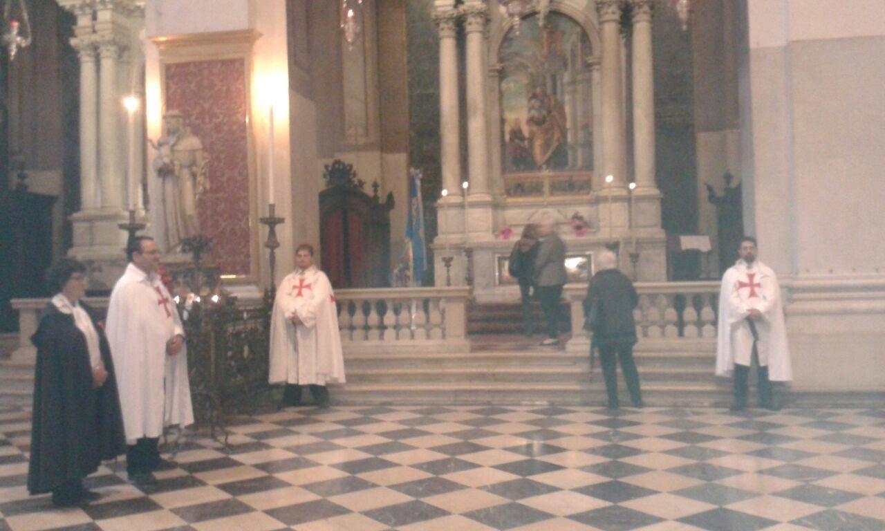 I Templari Cattolici d'Italia partecipano alla Solennità di Pentecoste nel Duomo di Udine.