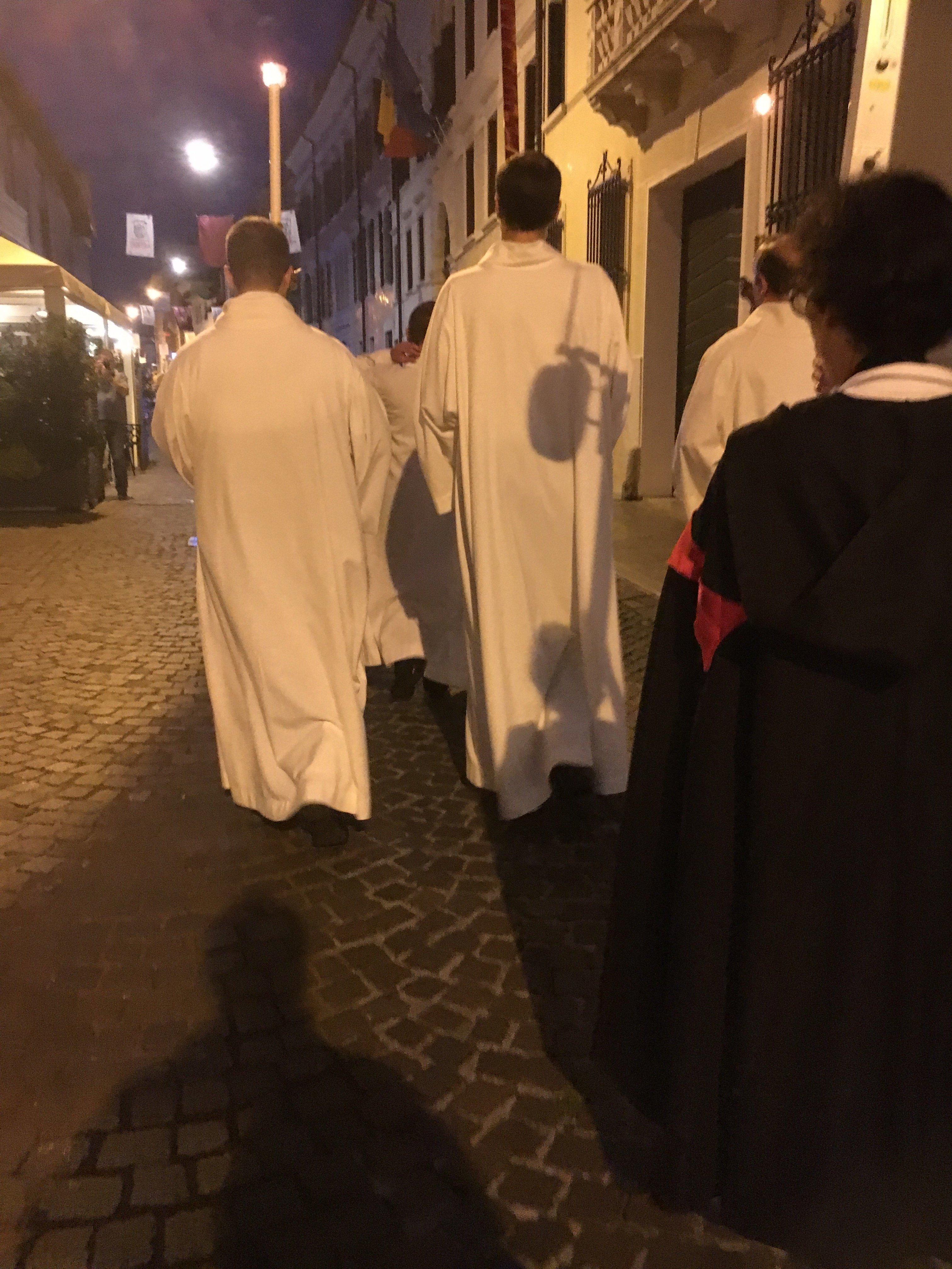 I Templari Cattolici d'Italia partecipano alla Solenne Celebrazione per la solennità del Santissimo Corpo e Sangue di Cristo a Pordenone