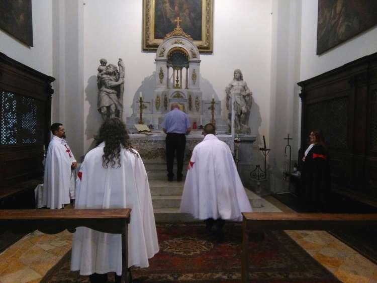 I Templari Cattolici d'Italia custodiscono la Chiesa di San Cristoforo a Udine e riaccolgono dopo circa dieci anni il Santissimo Sacramento nel tabernacolo.