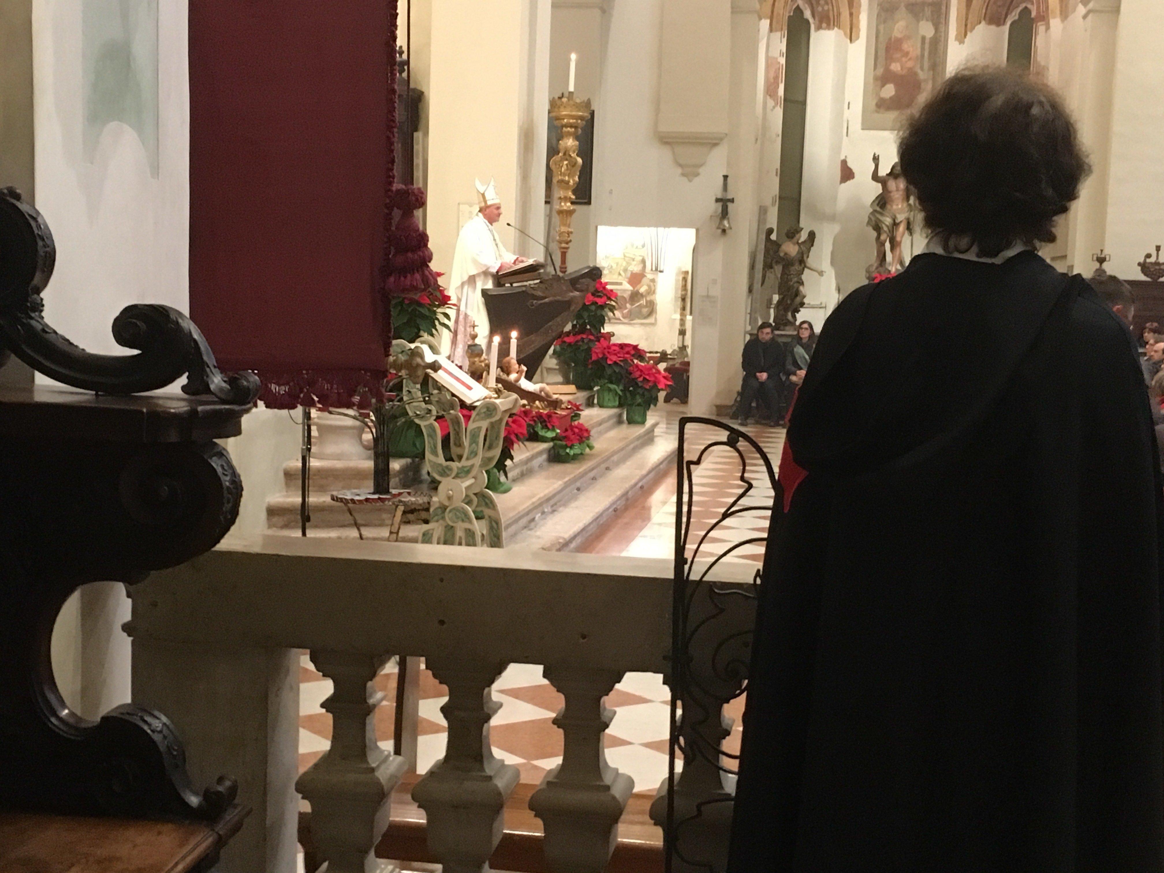 I Templari Cattolici d'Italia partecipano alla Veglia di Natale a Pordenone.