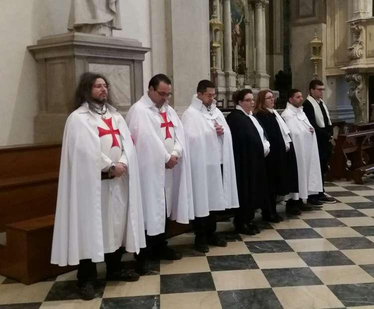 I Templari Cattolici d'Italia partecipano alla festività del Battesimo di Nostro Signore presso il duomo di Udine.