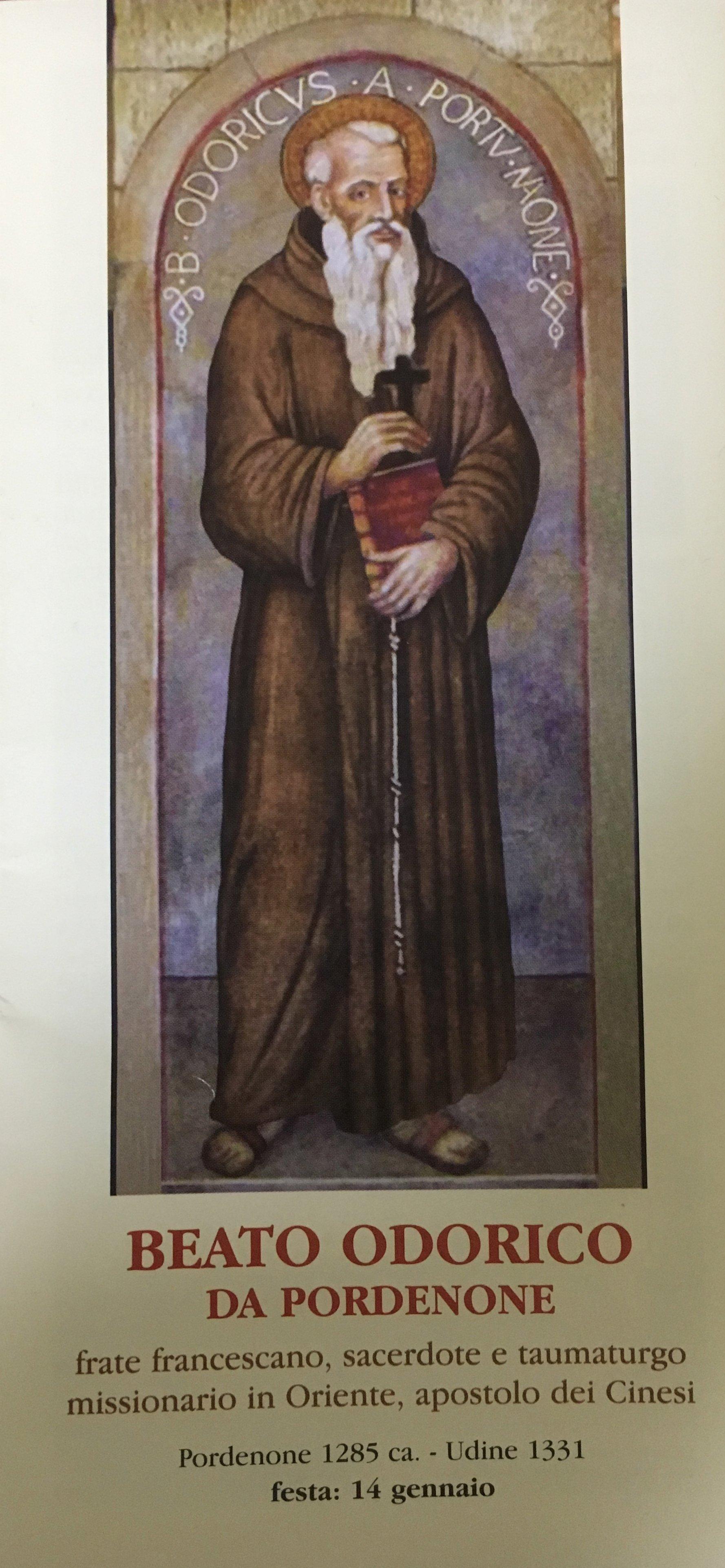 I Templari Cattolici d'Italia partecipano alla Santa Messa in onore di Beato Fra Odorico di Pordenone.