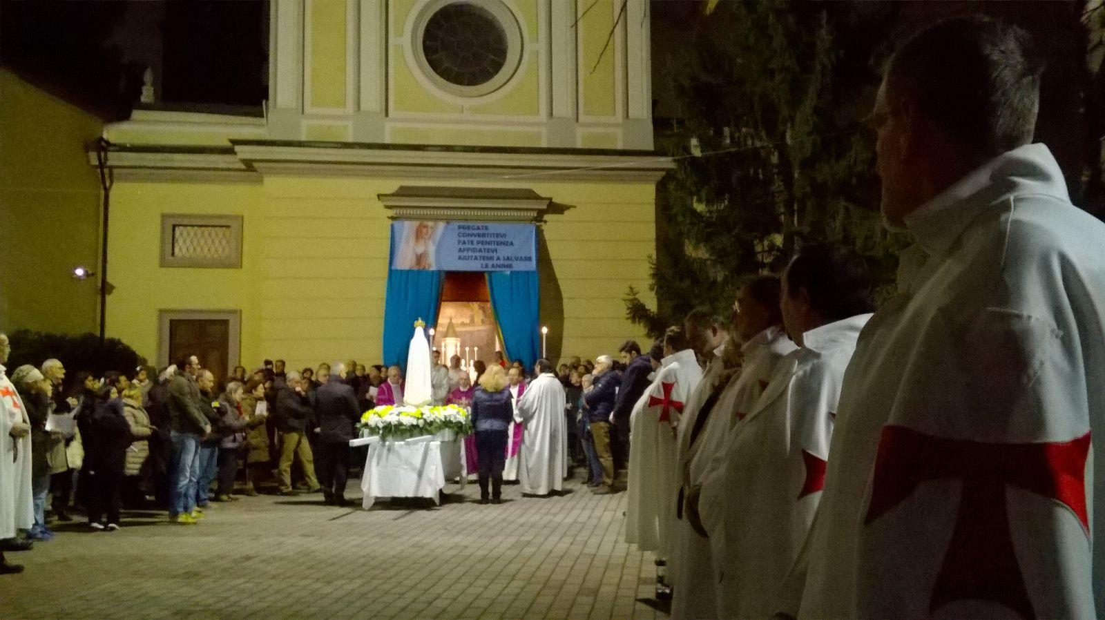 I Templari Cattolici d'Italia partecipano alla Santa Messa della Missione Popolare Madonna Pellegrina di Fatima a Milano