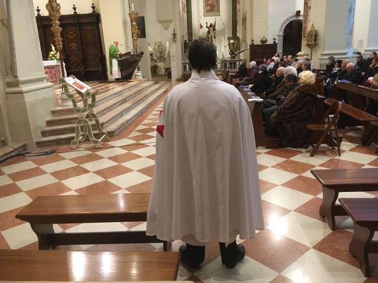 I Templari Cattolici d'Italia partecipano alle celebrazioni in occasione della festa del Malato e della ricorrenza del centenario delle apparizioni della Madonna di Lourdes a Pordenone