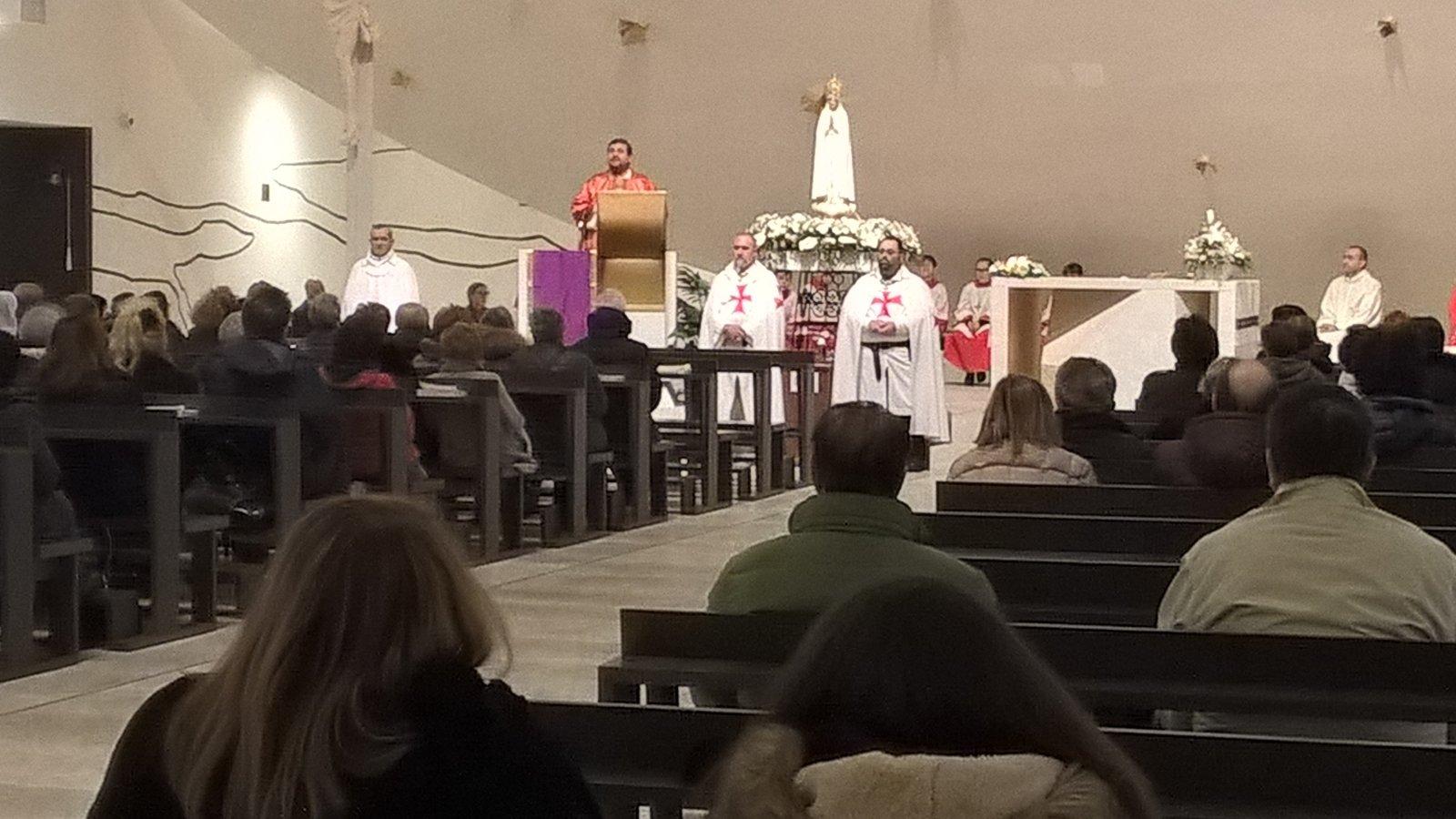 I Templari Cattolici d'Italia partecipano alla Santa Messa con la Madonna Pellegrina di Fatima a Trezzano sul Naviglio.