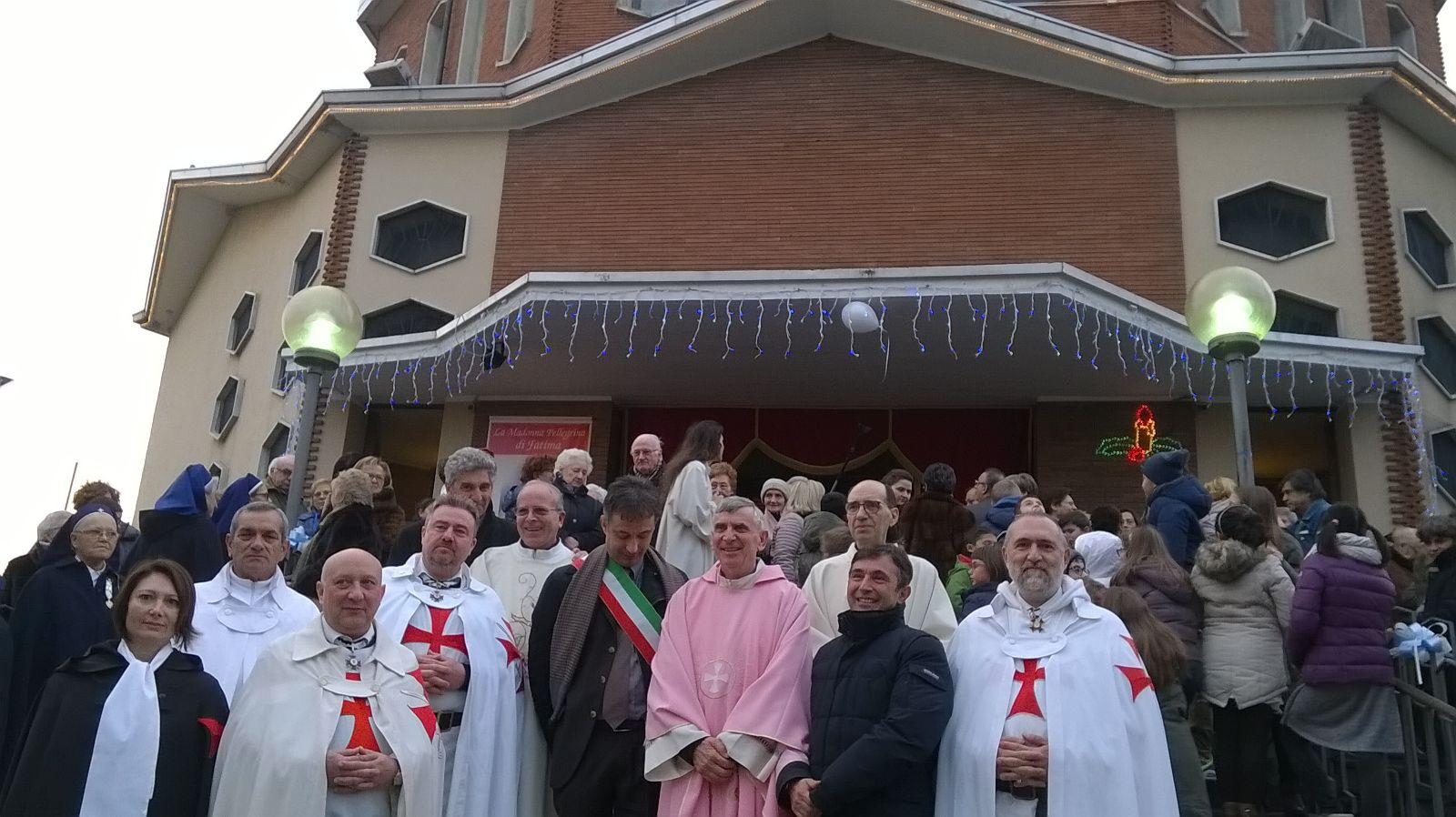I Templari Cattolici d'Italia scortano la Madonna Pellegrina di Fatima a Vigevano.