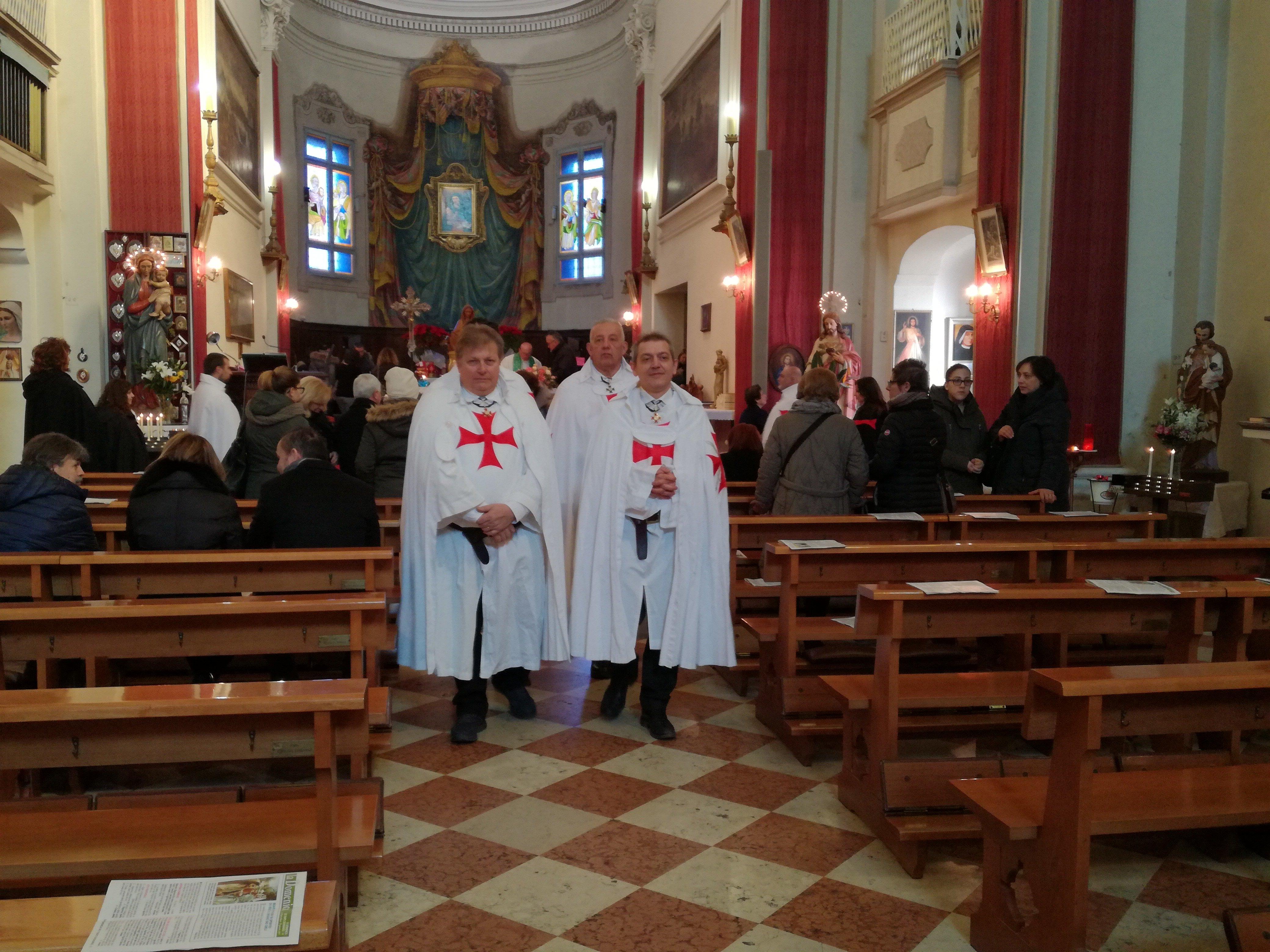 I Templari Cattolici d'Italia partecipano alla Santa Messa in occasione della Madonna di Sotto a Sassuolo