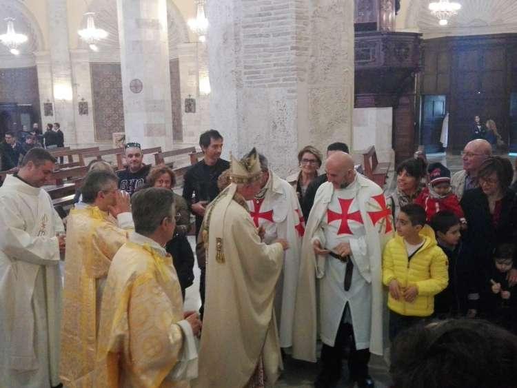I Templari Cattolici d'Italia partecipano alle celebrazioni in occasione delle festività pasquali presso Ascoli.