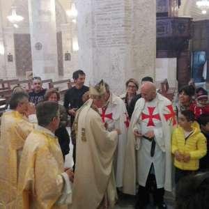 I Templari Cattolici d'Italia partecipano alle celebrazioni in occasione delle festività pasquali presso Ascoli con s.e. mons. Giovanni d'Ercole