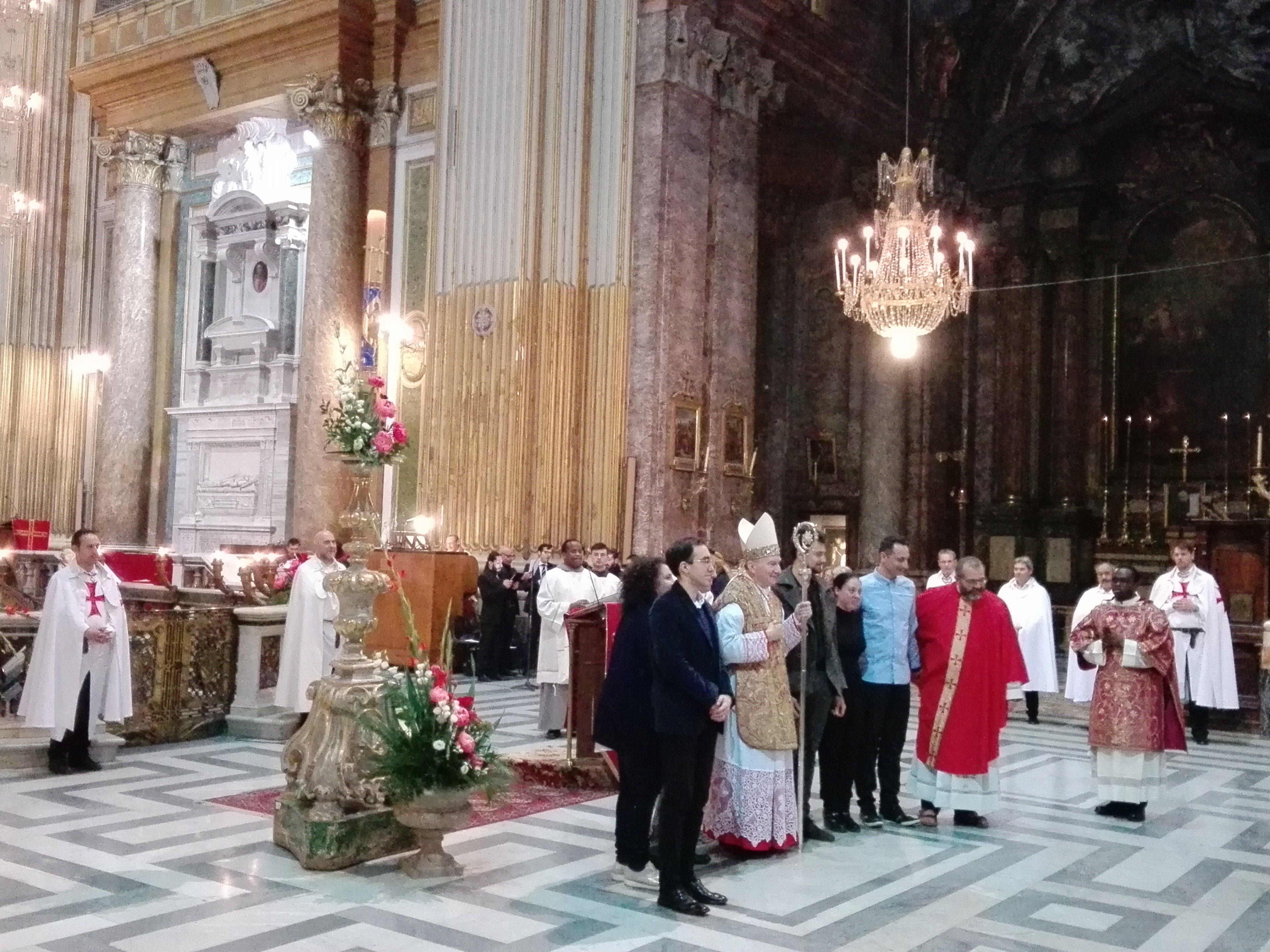 I Templari Cattolici d'Italia partecipano alla Santa Messa solenne per la festività degli Apostoli Filippo e Giacomo il Minore presso la Basilica dei Santi XII Apostoli a Roma.